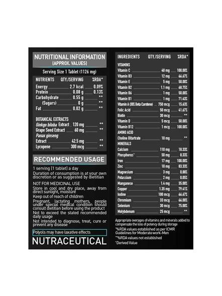 Muscleblaze Vite Multivitamin Minerals And Multivitamins 60 Tab-UNFLAVORED-60 Tab-2