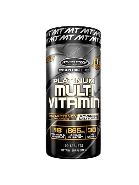 Muscletech Essential Series Platinum Multi Vitamin (18 Vitamins & Minerals, 865mg Amino Support) - 90 Tabs-465