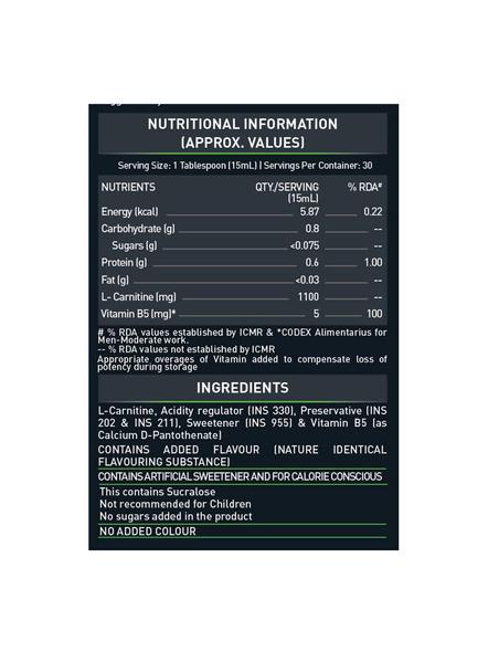 Muscleblaze L-carnitine 450ml Fat Burner-LEMON LIME-450 Ml-2