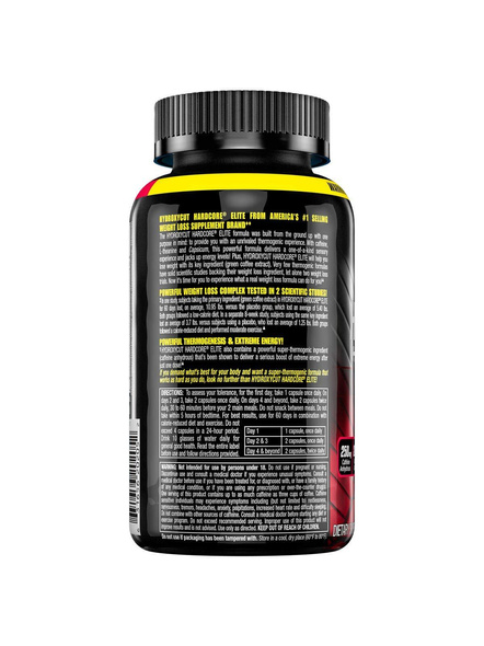 Muscletech Performance Series Hydroxycut Hardcore Elite (250mg Caffeine Anhydrous, 200mg Green Coffee, 100mg L-theanine)-UNFLAVORED-110 Cap-1