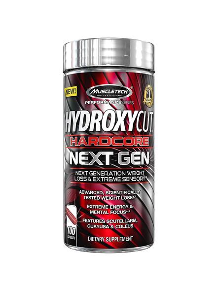Muscletech Performance Series Hydroxycut Hardcore Next Gen (coleus 100mg, Guayusa 20mg) - 100 Capsules (guayusa & Coleus)-7339
