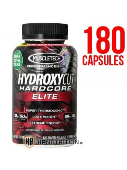 Muscletech Performance Series Hydroxycut Hardcore Elite (250mg Caffeine Anhydrous, 200mg Green Coffee, 100mg L-theanine) 180 Cap-6263