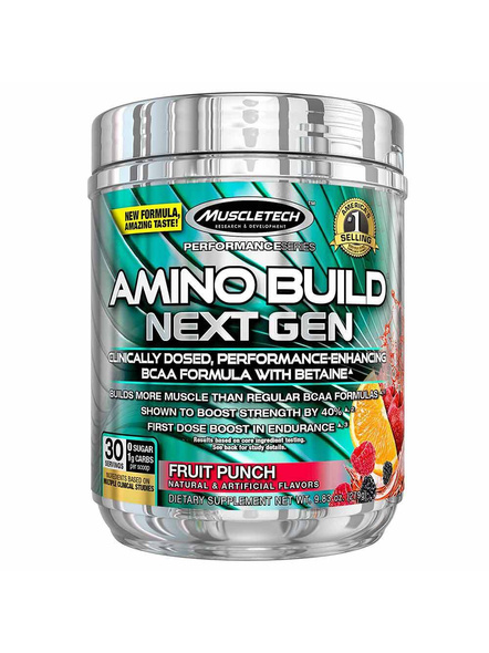 Muscletech Performance Series Amino Build Next Gen (intra Workout, 0 Sugar, 1g Carbs) – 281 G (30 Servings)-10804