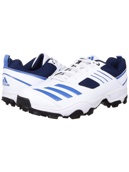 ADIDAS CL9972 CRICKET SHOES-WHITE BLUE-10-2