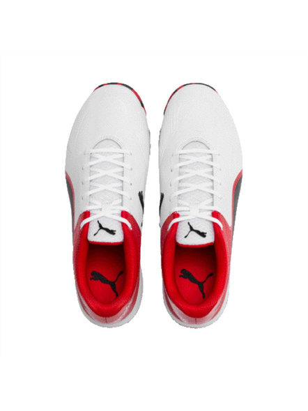 PUMA 105565 CRICKET SHOES-9-white-Red-1