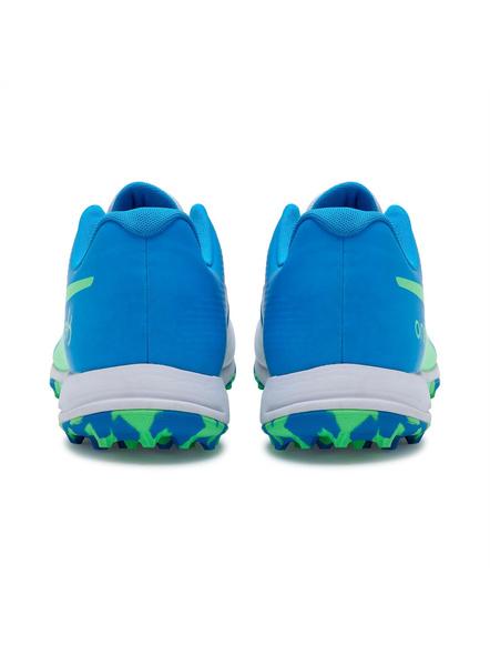 PUMA 105565 CRICKET SHOES-10-White-Nrgy Blue-Green-2