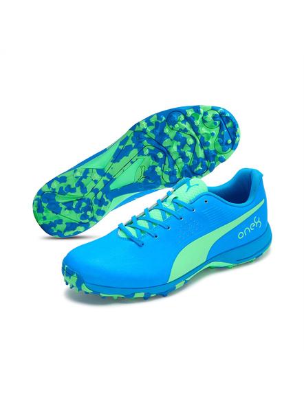 PUMA 105565 CRICKET SHOES-Elektro Green-Nrgy Blue-8-1