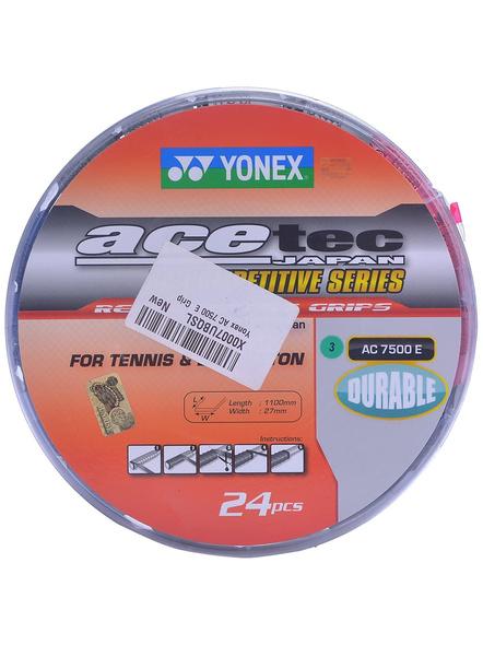 YONEX AC 7500 E GRIP (Colour may vary)-Black / Red-2