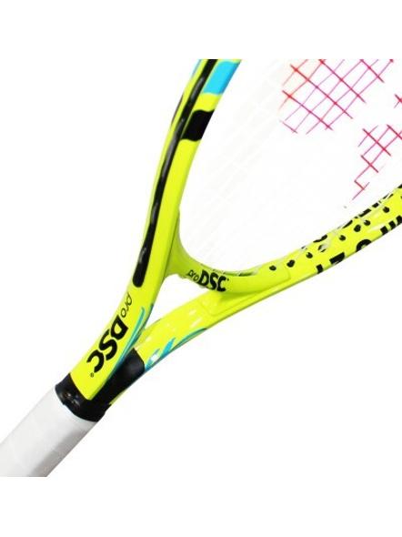 DSC Champs Junior 23 Multicolor Strung Tennis Racquet-WHITE/BLUE-21-2