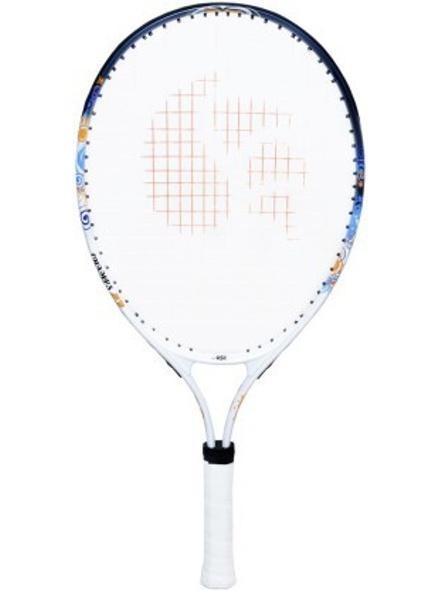 """DSC CHAMP JUNIOR 23"""" White, Blue Strung Tennis Racquet-22197"""
