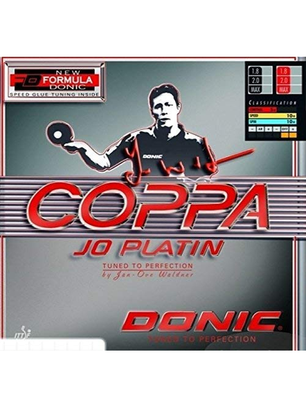 DONIC COPPA JO PLATIN TABLE TENNIS RUBBER-RED-.-1