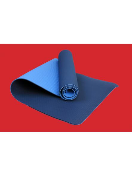 AIRAVAT TPE 6 MM SINGLE YOGA MAT (Colour may vary)-6 MM-BLUE-2