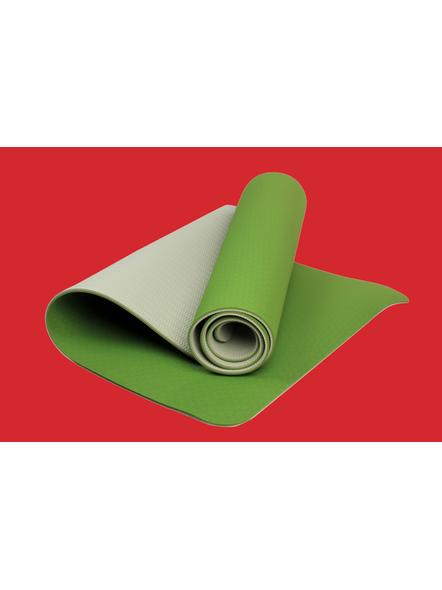 AIRAVAT TPE 6 MM SINGLE YOGA MAT (Colour may vary)-6 MM-DARK GREEN-1