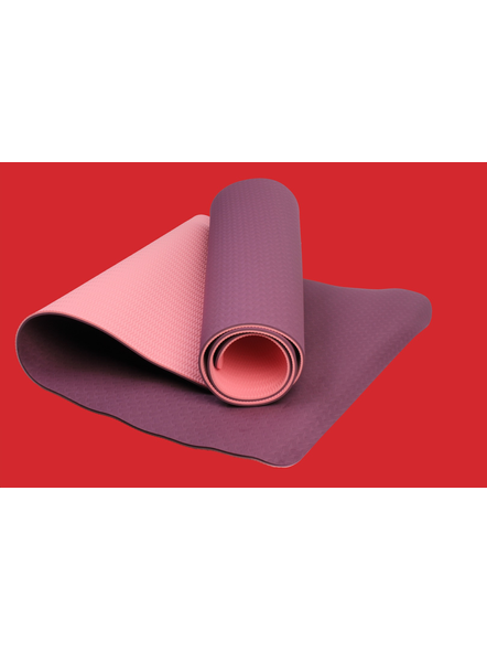 AIRAVAT TPE 6 MM SINGLE YOGA MAT (Colour may vary)-26275