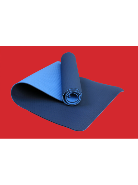 AIRAVAT TPE 6 MM SINGLE YOGA MAT (Colour may vary)-6 MM-SKY BLUE-2