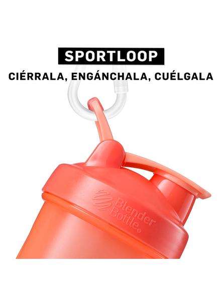 BlenderBottle C01642 Plastic Classic Loop Top Shaker Bottle, 945 ml-CORAL-1