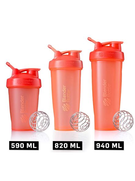 BlenderBottle C01642 Plastic Classic Loop Top Shaker Bottle, 945 ml-CORAL-2