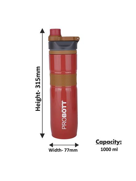 PROBOTT Thermosteel Epsilon Vacuum Flask 1000ml PB 1000-08 (Colour May Vary)-CHOCOLATE-2