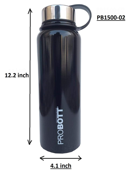 Probott Thermosteel Thermos Flask Water Bottle 1500 ml (PB1500-02) (Colour May Vary)-BLACK-2