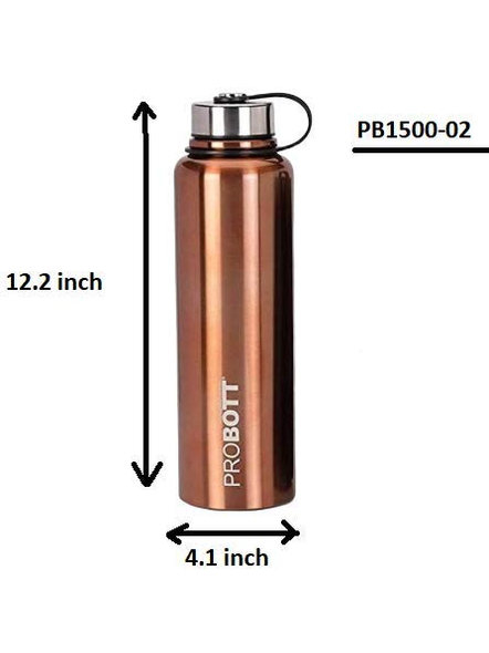 Probott Thermosteel Thermos Flask Water Bottle 1500 ml (PB1500-02) (Colour May Vary)-GOLD-2