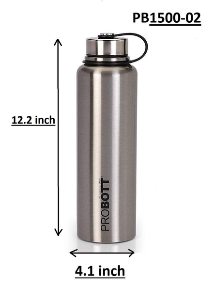 Probott Thermosteel Thermos Flask Water Bottle 1500 ml (PB1500-02) (Colour May Vary)-SILVER-2