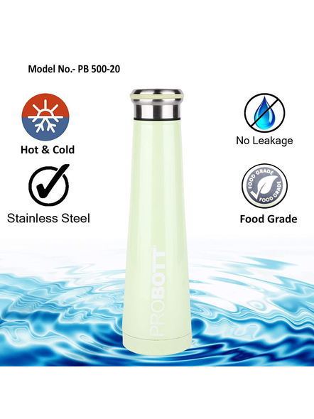 PROBOTT Thermosteel Flask 500ml - PB 500-20 (Colour May Vary)-GREEN-1