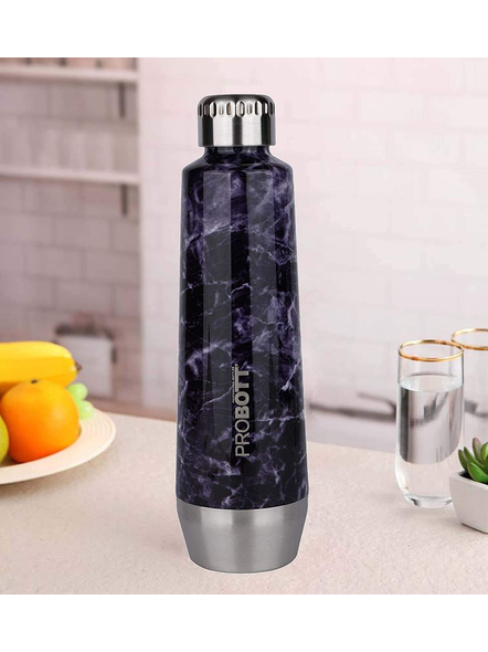 PROBOTT Stainless Steel Double Wall Vacuum Flask Puro Sports Bottle 550ml - PB 550-01 (Colour May Vary)-12873
