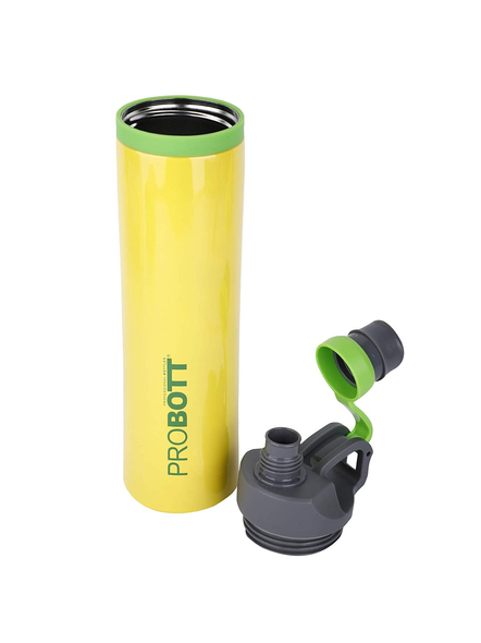 PROBOTT Stainless Steel Double Wall Vacuum Flask Delta Bottle 620ml -PB 620-03 (Colour May Vary)-YELLOW-1