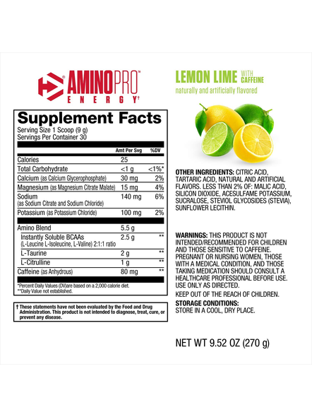DYMATIZE AMINO PRO 270 G AMINO ACIDS-LEMON LIME-270 g-1