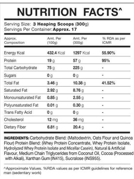 IN2 MASS 5 Kg MASS GAINER-RICH CHOCOLATE-5 kg-1