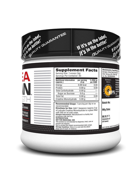 LABRADA CREATINE MONOHYDRATE 250 g MUSCLE BOOSTER-250 g-1