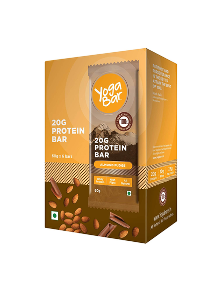 YOGA BAR PROTEIN BAR 60 GM MEAL REPLACEMENT-ALMOND FUDGE-360 g-1