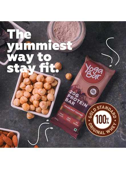 YOGA BAR PROTEIN BAR 60 GM MEAL REPLACEMENT-HAZELNUT TOFFEE-360 g-2
