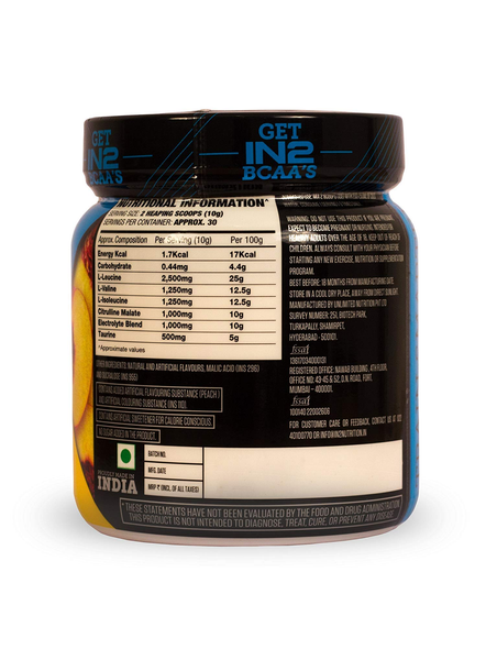 IN2 BCAA-300 g MUSCLE RECOVERY-PEACH-300 g-30-2