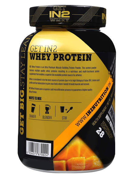 IN2 WHEY PROTEIN 908GMS WHEY PROTIEN BLEND-MANGO-908 g-28-1
