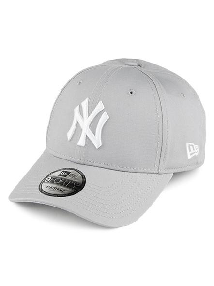 NEW ERA 9Forty League Basic New York Adjustable , Grey-4248