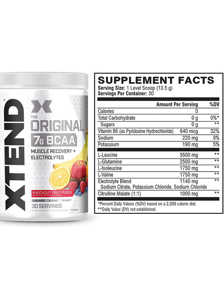 Scivation Xtend Bcaas New Muscle Recovery 390 g-405 g-KNOCKOUT FRUIT PUNCH-1