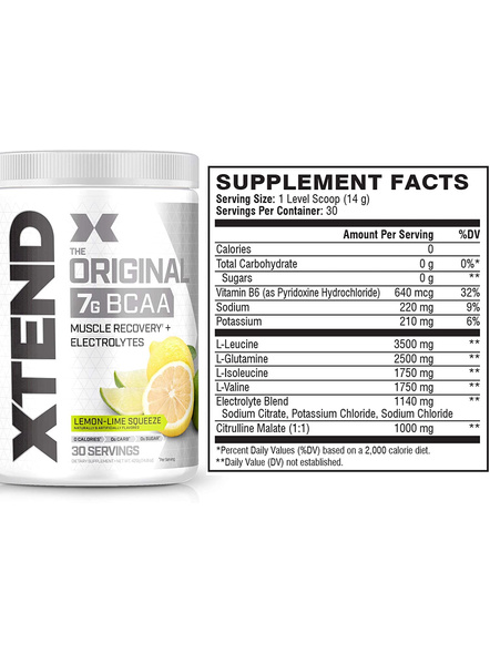 Scivation Xtend Bcaas New Muscle Recovery 390 g-405 g-LEMON LIME SQUEEZE-1