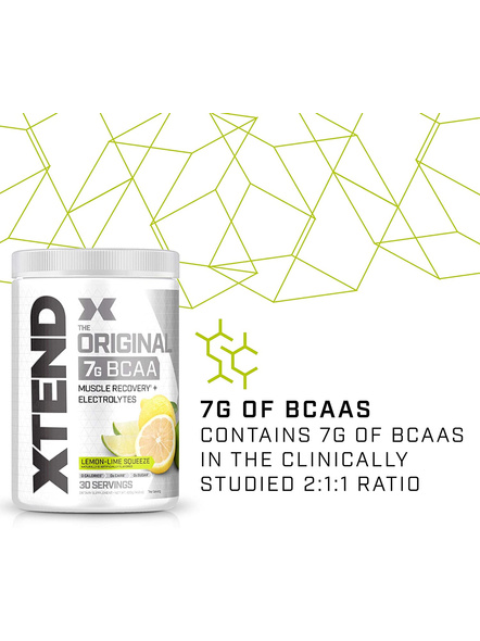 Scivation Xtend Bcaas New Muscle Recovery 390 g-405 g-LEMON LIME SQUEEZE-2
