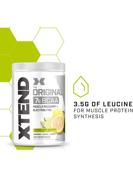 Scivation Xtend Bcaas New Muscle Recovery 390 g-405 g-LEMON LIME SQUEEZE-3