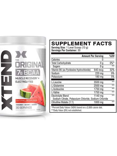 Scivation Xtend Bcaas New Muscle Recovery 390 g-405 g-WATERMELON EXPLOSION-1