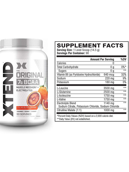Scivation Xtend Bcaas New Muscle Recovery 1220 g-Italian Blood Orange-1.30 kg-1