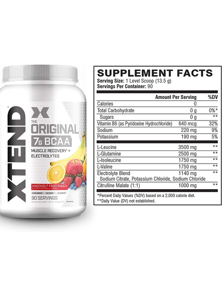 Scivation Xtend Bcaas New Muscle Recovery 1220 g-KNOCKOUT FRUIT PUNCH-1.30 kg-1