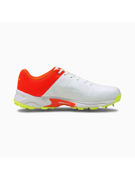 PUMA 105510 CRICKET SHOES-White/Red/Yellow-11-2