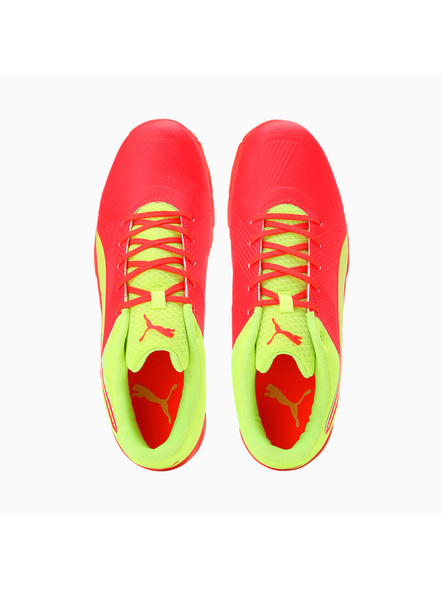 PUMA 105510 CRICKET SHOES-Red / Yellow-7-2