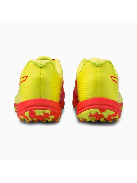 PUMA 105565 CRICKET SHOES-Red / Yellow-7-2