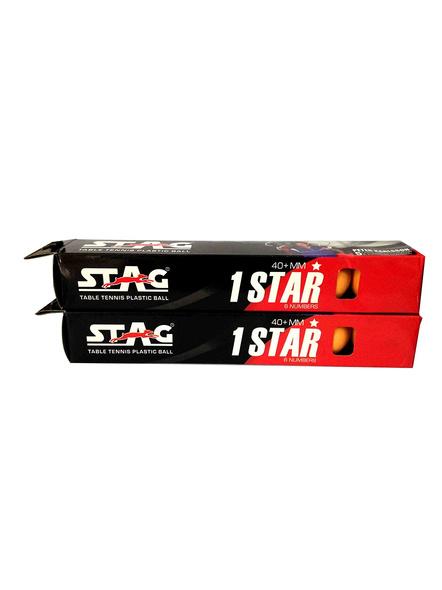 Stag 1 Star Table Tennis Ball-3 Units-ORANGE-2