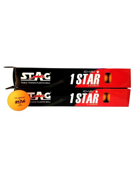 Stag 1 Star Table Tennis Ball-3 Units-ORANGE-1