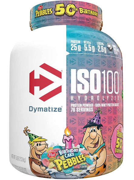 Dymatize Nutrition Iso 100 Whey Protein Powder Isolate 5 Lbs-29242
