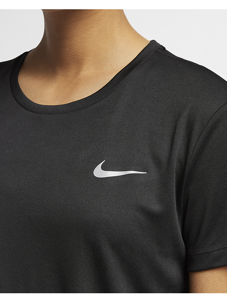 Nike Women Miler Running Top (colour May Vary)-M-Black-1